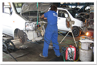 自動車解体技術