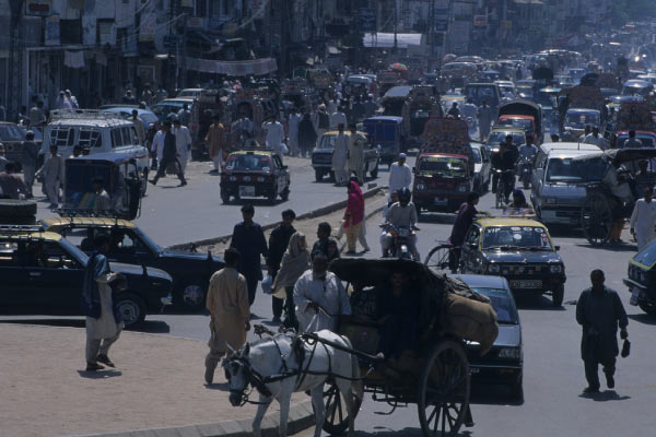 パキスタンの交通風景