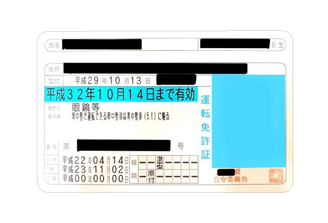 普通自動車の廃車手続きに必要な書類9.身分証明書の見本